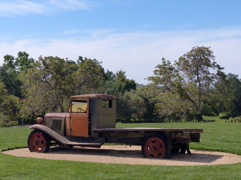 De vlakke Vrachtwagen van het Bed stock fotografie