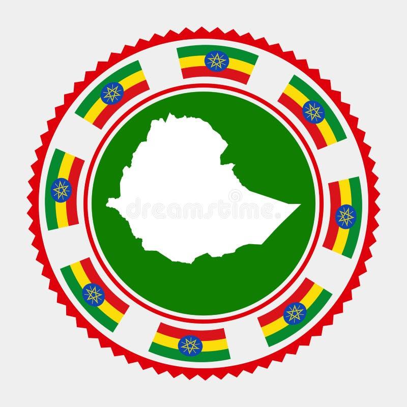 De vlakke zegel van Ethiopië royalty-vrije illustratie