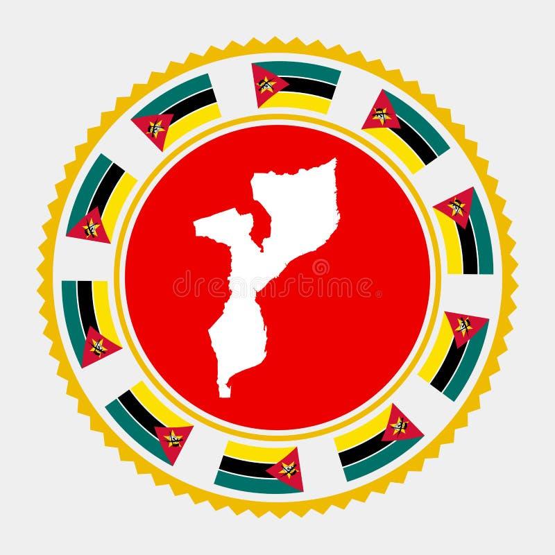De vlakke zegel van Mozambique royalty-vrije illustratie