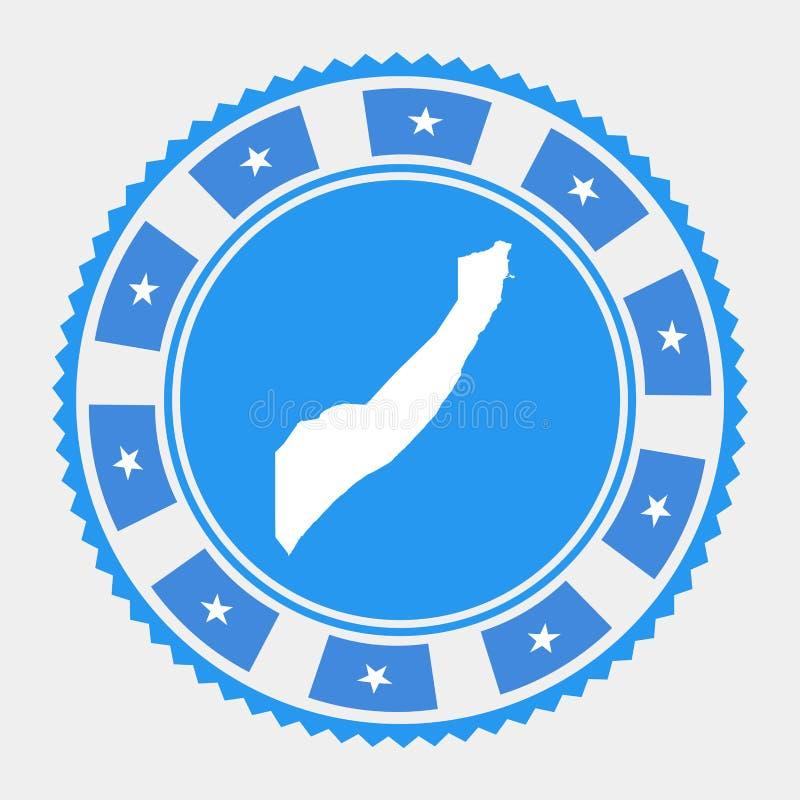 De vlakke zegel van Somalië royalty-vrije illustratie
