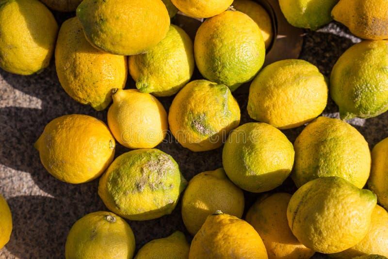 De Vlakte van het citroenfruit lag royalty-vrije stock foto's