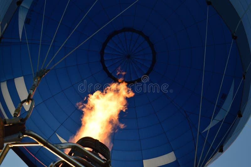 De Vlam van de hete Luchtballon stock fotografie