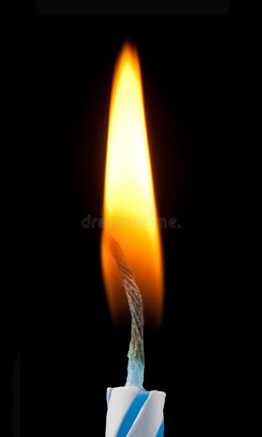 De Vlam van de Kaars van de verjaardag royalty-vrije stock foto