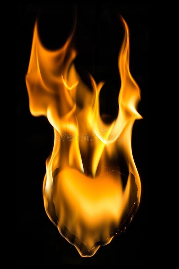 De vlam van de hartbrand stock afbeeldingen