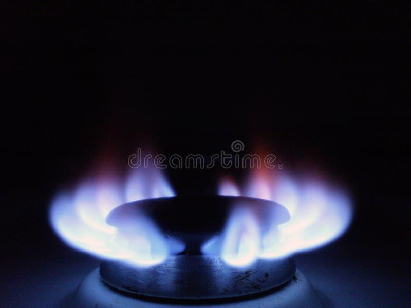 De Vlam van het Aardgas royalty-vrije stock foto