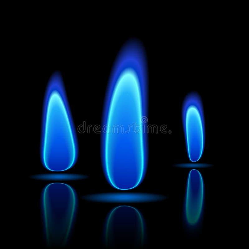 De vlam van het gas. royalty-vrije illustratie