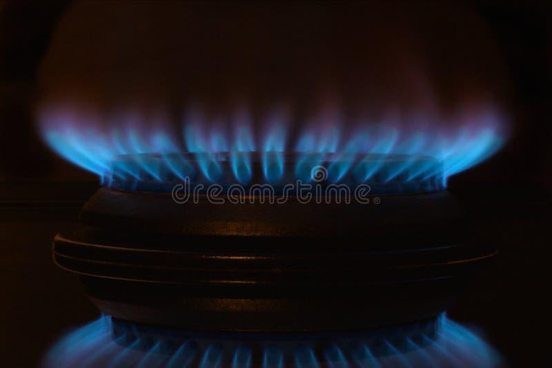 De Vlam van het gas royalty-vrije stock foto's