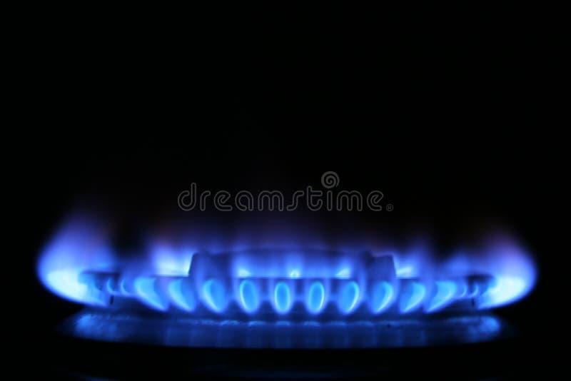 De vlam van het gas stock foto