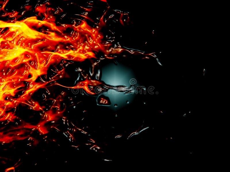 De vlam van het plasma royalty-vrije stock foto's