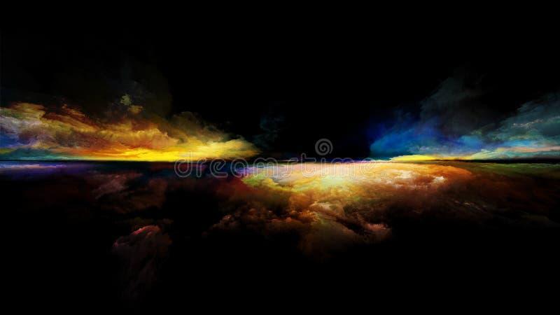 De vlam van zonsondergang stock illustratie