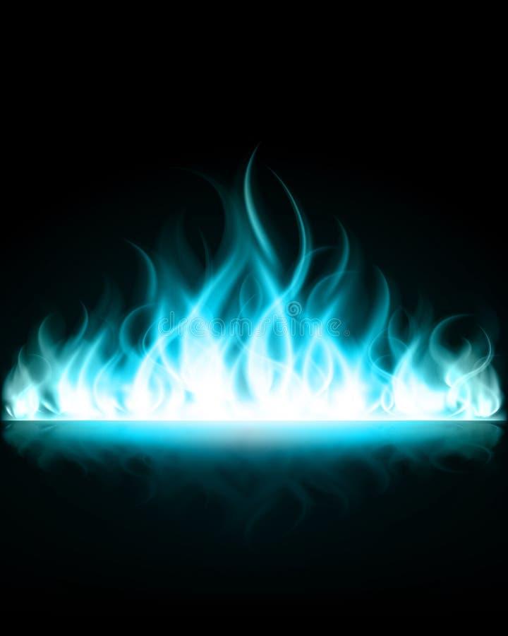 De vlambrand van de brandwond stock illustratie