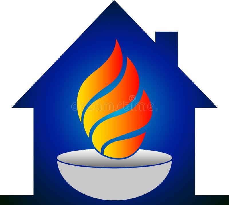 De vlamembleem van het huis vector illustratie