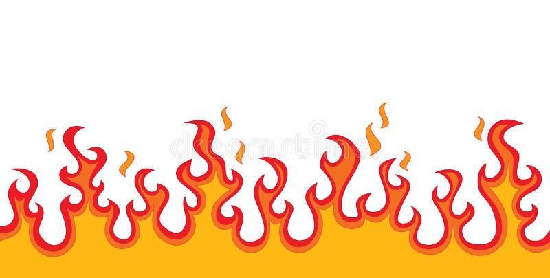 De Vlammen van de brand stock illustratie