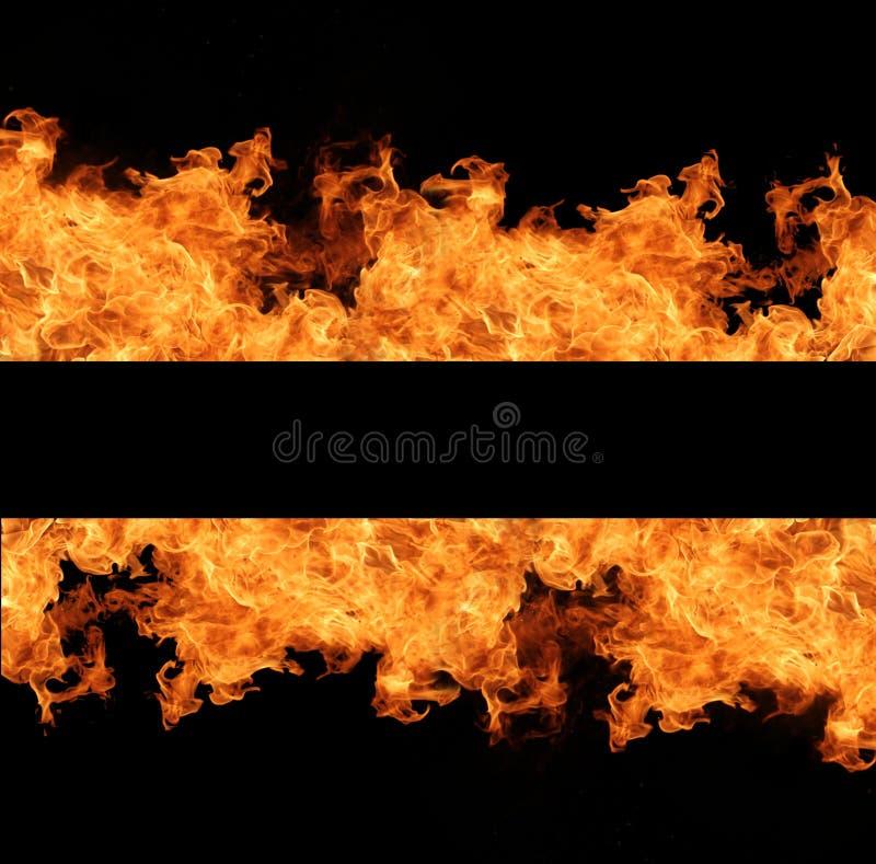 De vlammen van de brand stock foto's