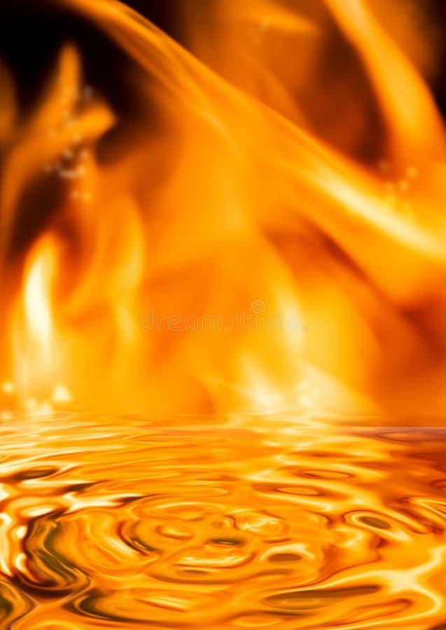 De vlammen van de brand stock fotografie