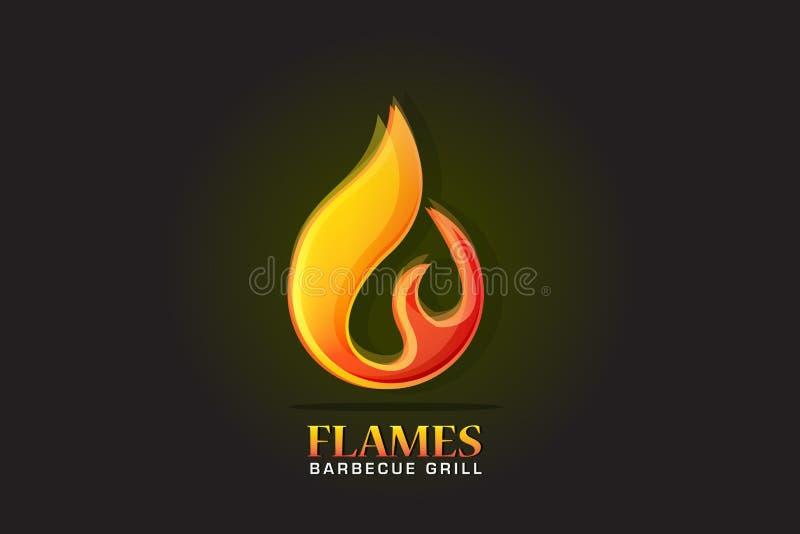 De vlammen vectorbeeld van de embleembrand stock illustratie