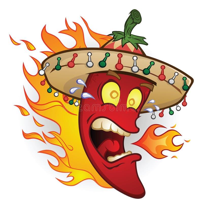 De vlammende Peper van de Spaanse peper van de Sombrero
