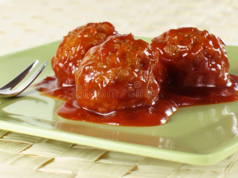 De Vleesballetjes van de cocktail stock foto