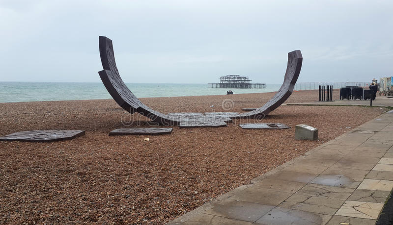 De vleethelling van Brighton, West-Sussex, het UK stock foto's