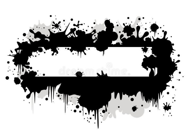 De vlek van de banner met inkt vector illustratie