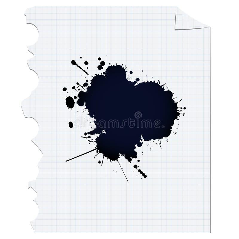 De vlek van de inkt royalty-vrije illustratie