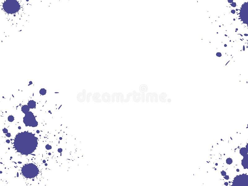 De vlekken van de inkt stock illustratie