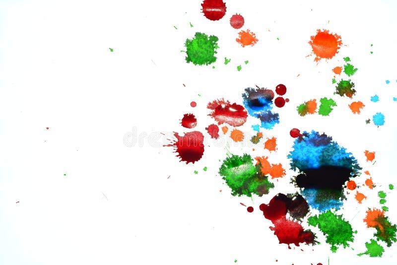 De vlekken van de inktkleur stock afbeeldingen