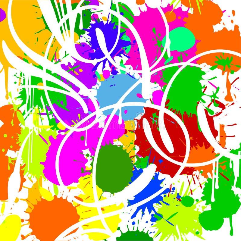 De Vlekken van de kleur. Witte Krommen. royalty-vrije illustratie