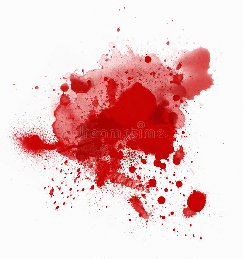 De vlekken van het bloed stock foto's