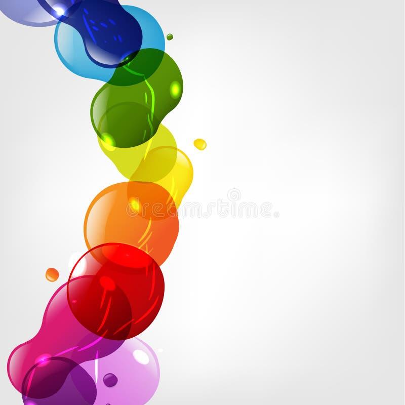 De Vlekken van het Neon van de kleur met Bokeh vector illustratie