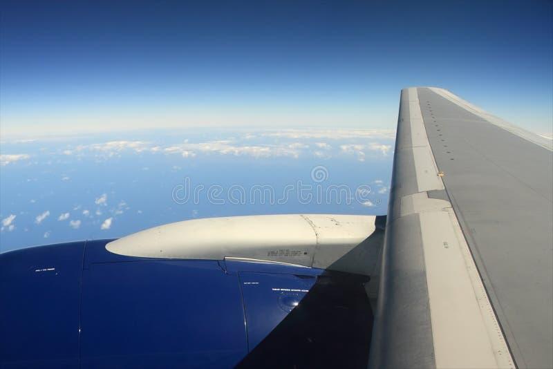 De Vleugel van het vliegtuig stock foto