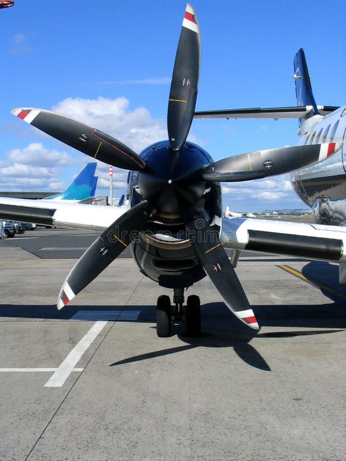 De vleugel van het vliegtuig stock foto's
