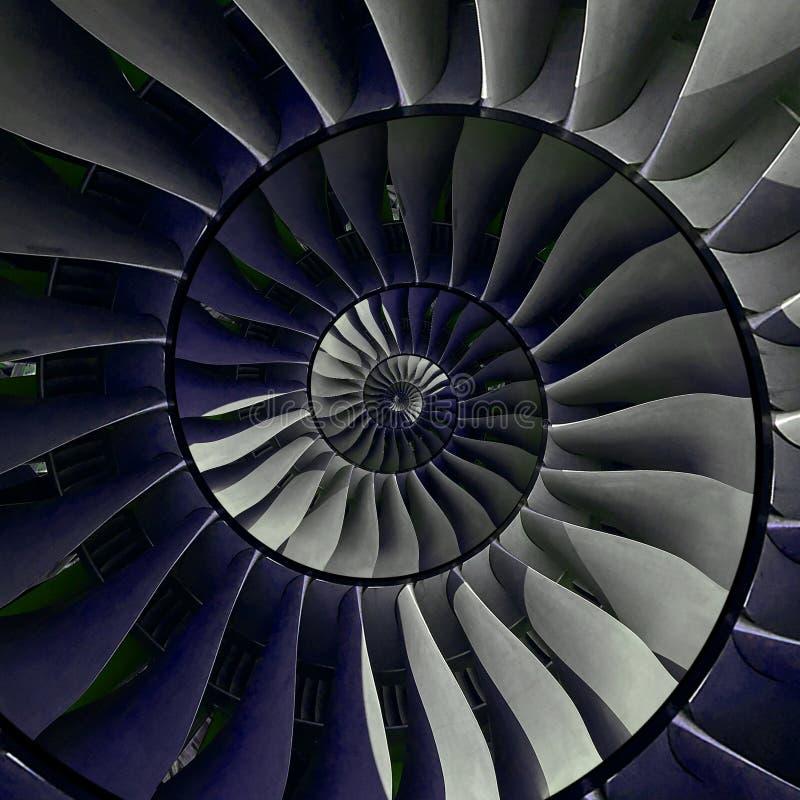 De vleugels spiraalvormige effect van turbinebladen abstracte fractal patroonachtergrond De spiraalvormige achtergrond van de ind stock foto's