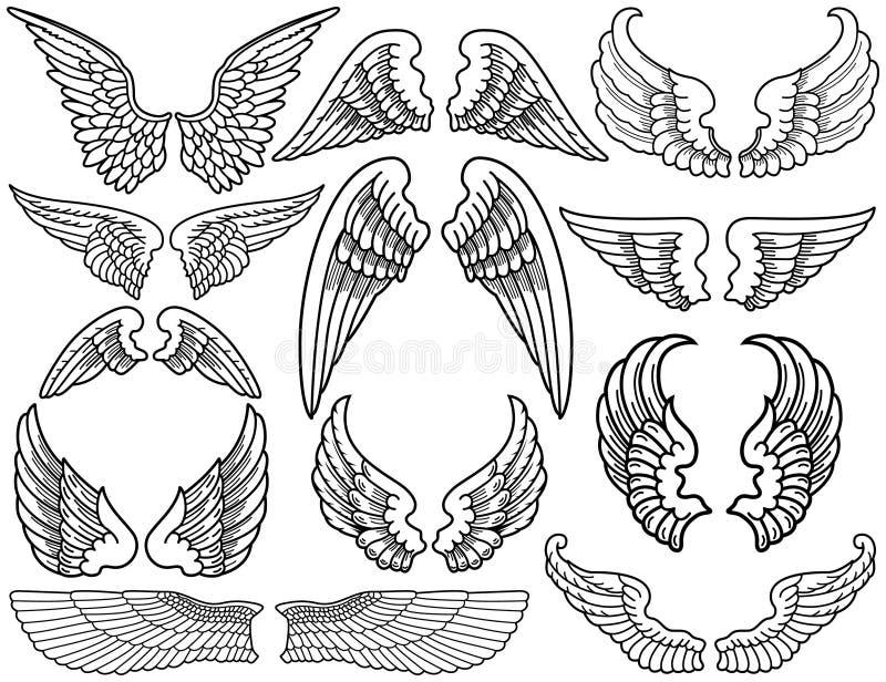 De Vleugels van de engel royalty-vrije illustratie