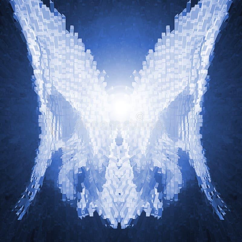De Vleugels van de Engel van Cyber vector illustratie