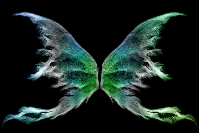 De vleugels van de fee royalty-vrije illustratie