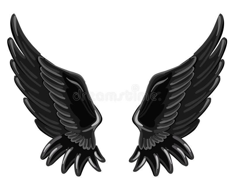 De vleugels van een gevallen engel stock illustratie