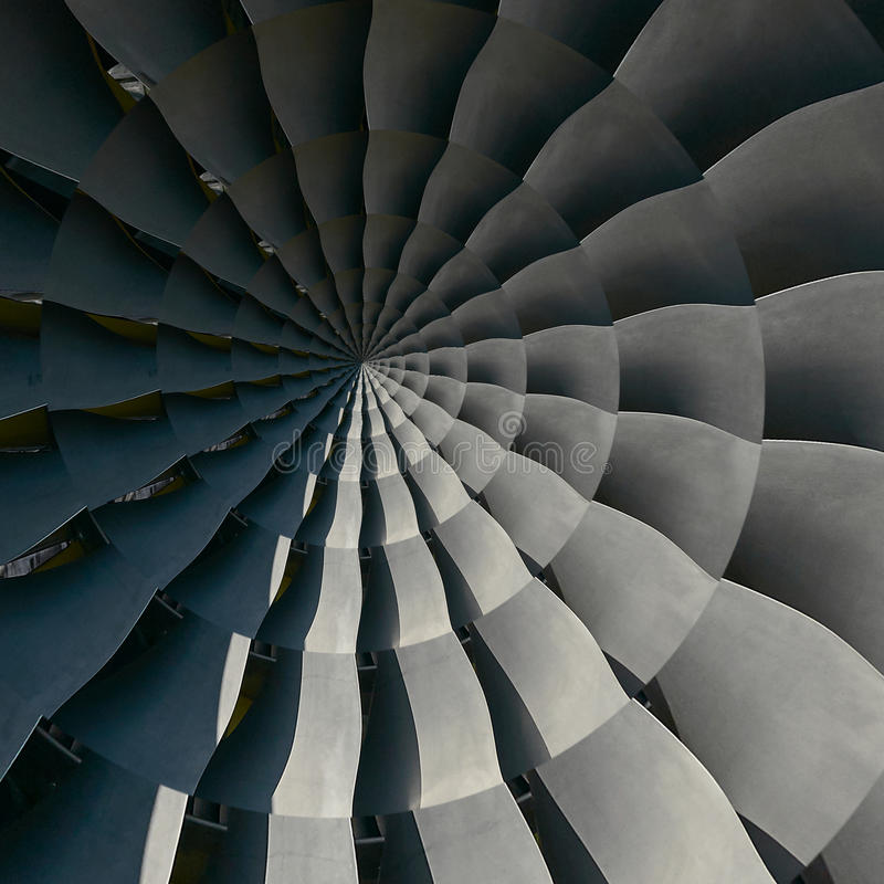 De vleugels van turbinebladen bewegen effect de abstracte fractal patroon Spiraalvormige achtergrond Turkije van de industriële p royalty-vrije stock foto