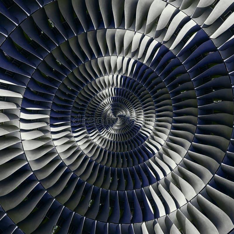 De vleugels van turbinebladen bewegen effect de abstracte fractal patroon Spiraalvormige achtergrond Turkije van de industriële p stock afbeelding