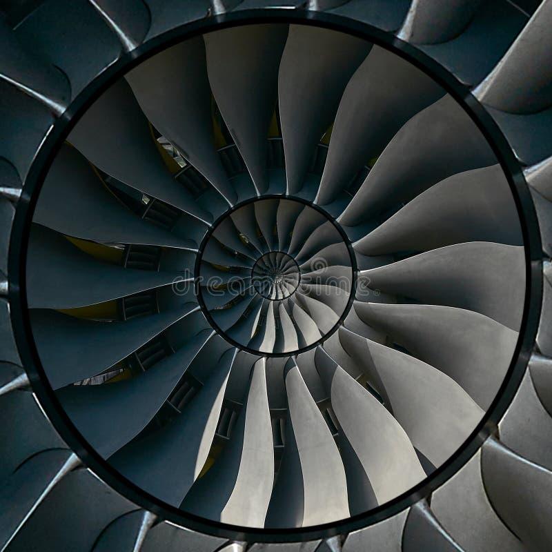 De vleugels van turbinebladen voeren abstracte fractal patroonachtergrond uit Cirkel om de productie metaalachtergrond van turbin royalty-vrije stock fotografie