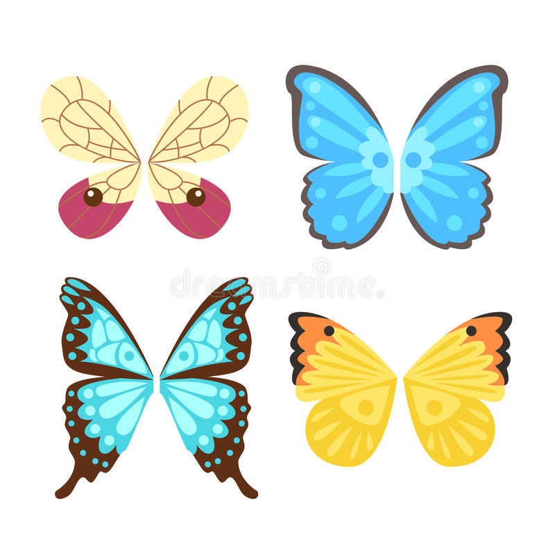 De vleugelsvlinder isoleerde dierlijke de vrijheidsvlucht van de veerpignon en natuurlijke van het de vredesontwerp van het havik royalty-vrije illustratie