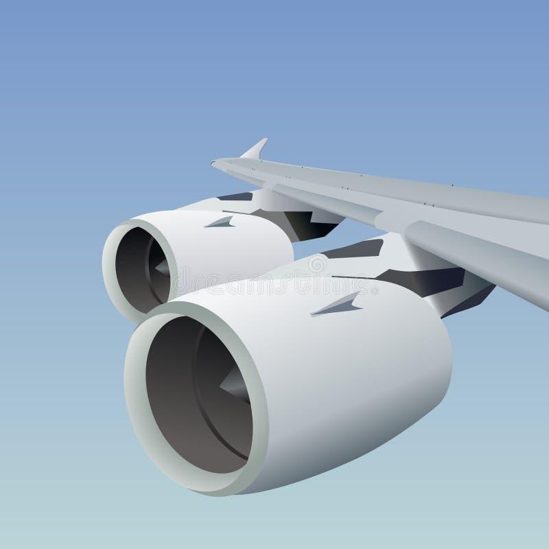 De vleugelvector van het vliegtuig vector illustratie
