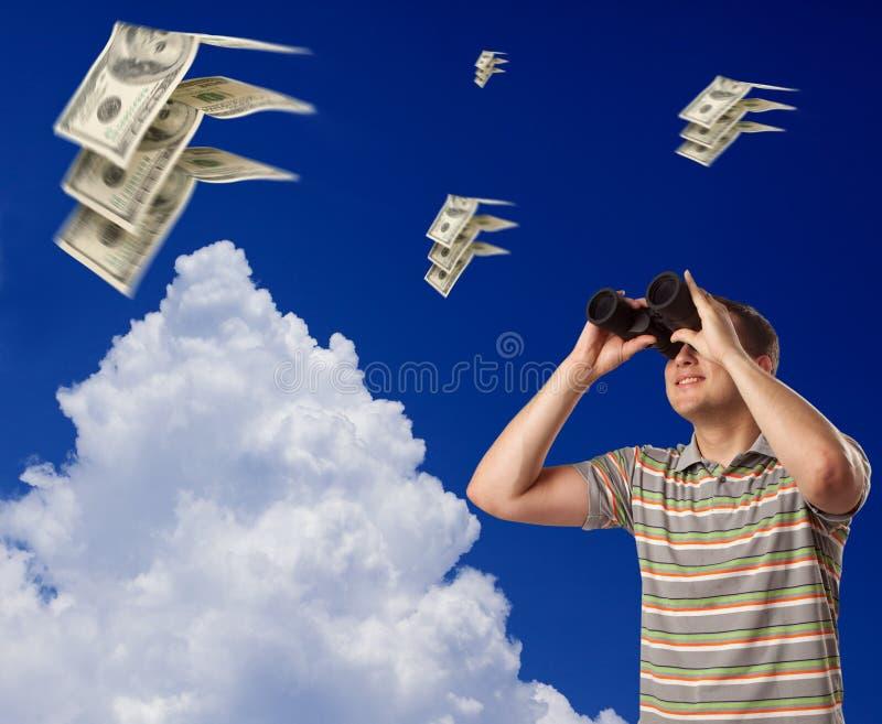 De vlieg van dollars weg royalty-vrije stock foto