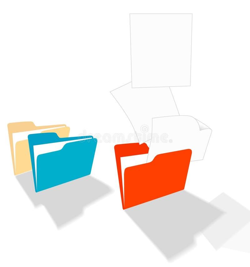 De Vlieg van dossiers van een Omslag vector illustratie