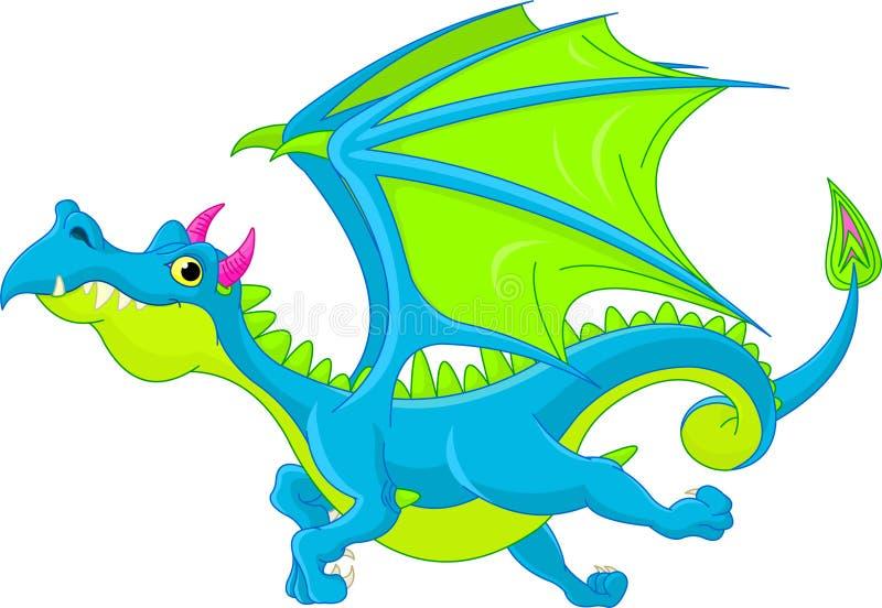 De vliegende draak van het beeldverhaal royalty-vrije illustratie