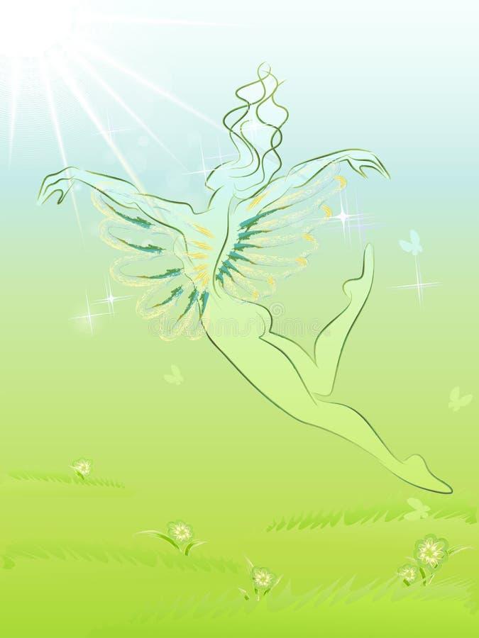 De vliegende lente vector illustratie