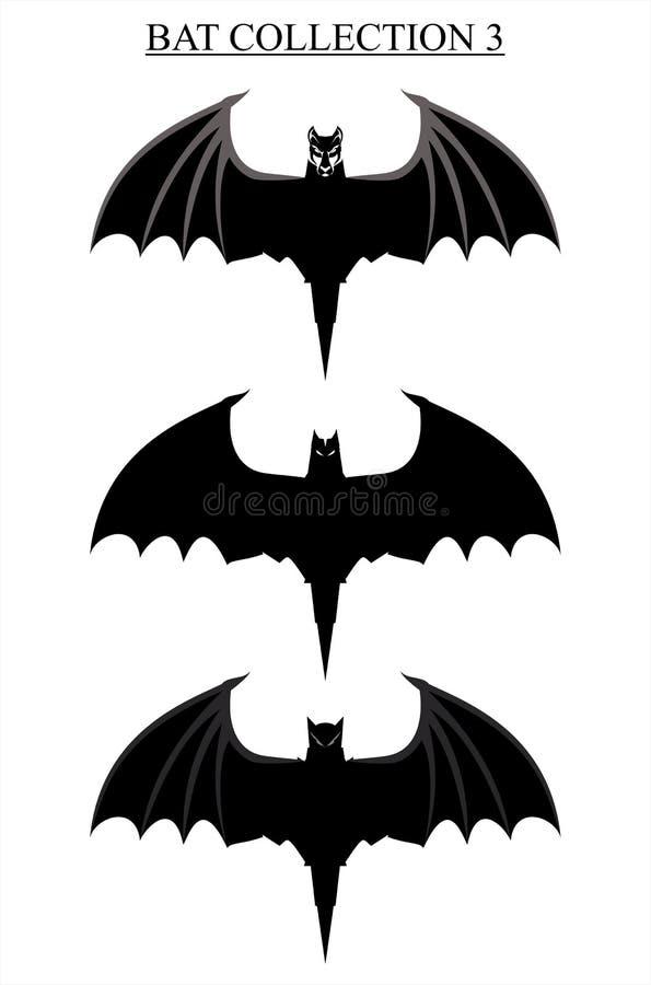 De vliegende zwarte knuppel spreidde zijn vleugels uit vector illustratie