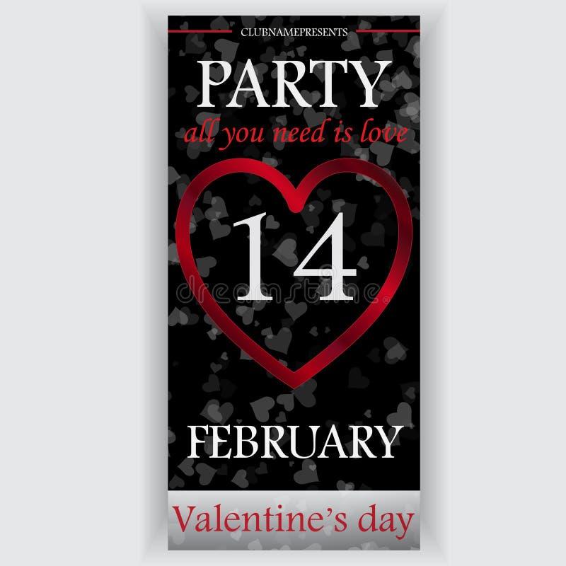 De vlieger van de de dagpartij van Valentine royalty-vrije stock foto