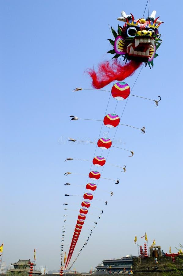 De vlieger van de draak royalty-vrije stock afbeelding