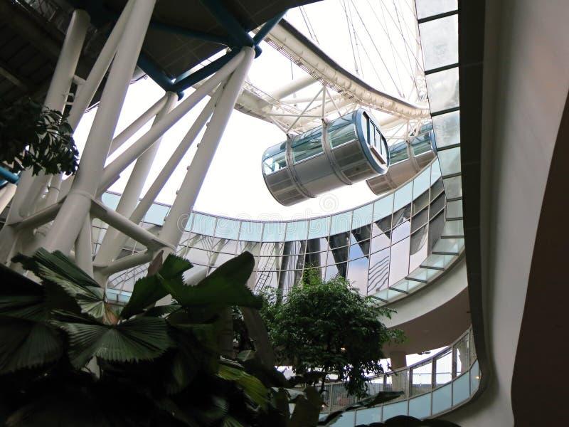 De Vliegercapsule van Singapore Moderne high-rise gebouwen Architectuur en kunst in moderne beschaving royalty-vrije stock afbeeldingen